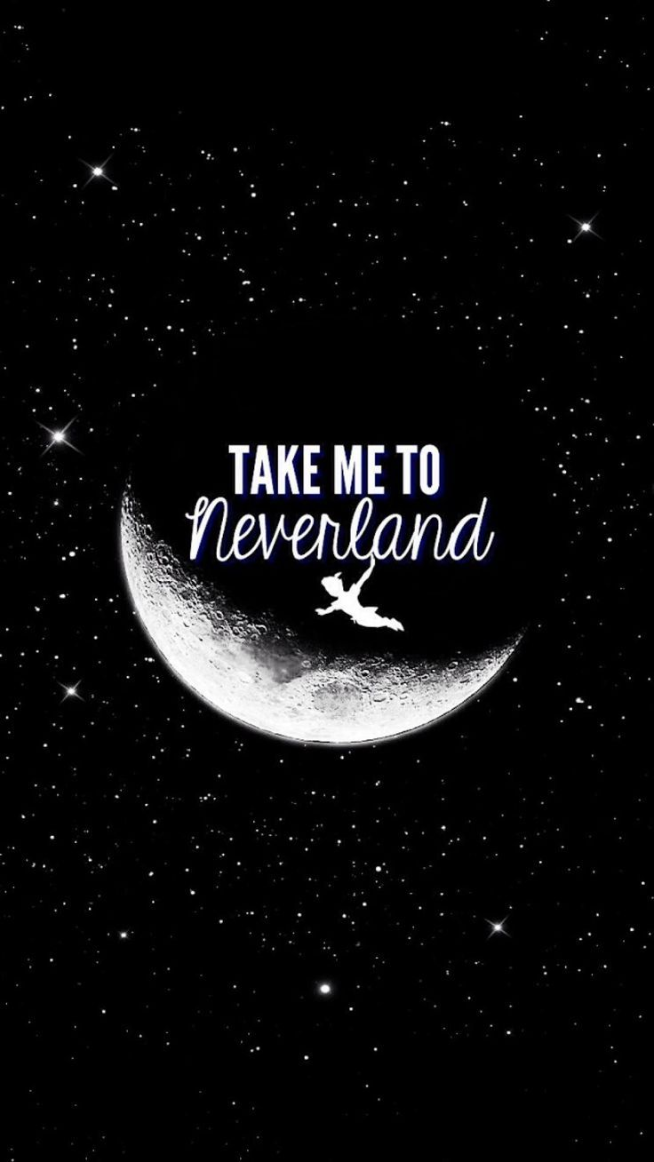 Neverland peter pan and moon image