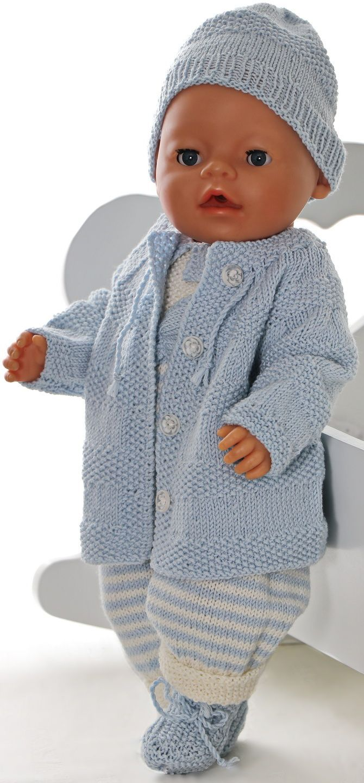Baby born kleidung stricken - Stricken Sie ein wundervolles  Babypuppen-Set