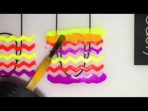 Neon Chevrons Nail Art - DIY - YouTube