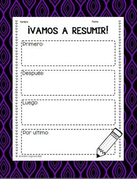 Reading Graphic Organizers in Spanish for litrerary and informative texts - This packet includes 91 graphic organizers to use with any book!!!