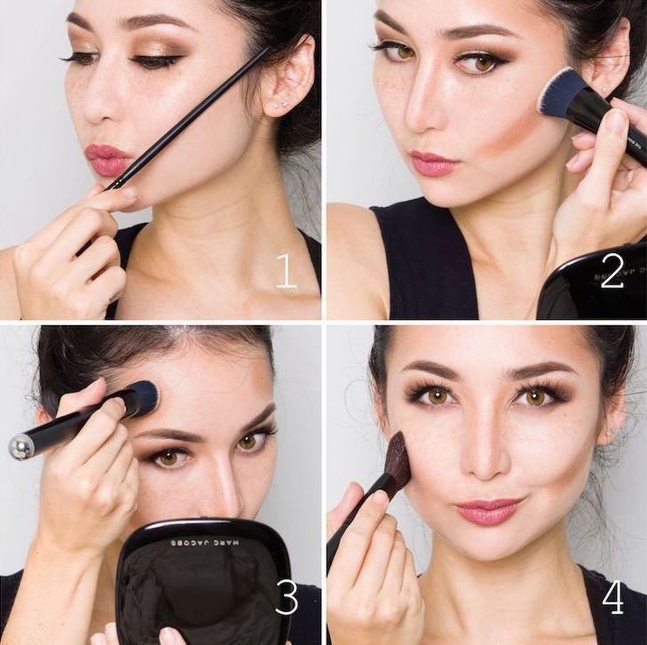 макияж лица пошаговое фото в домашних условиях женщинам