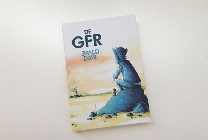 Cover Illustratie voor de GFR. Crayon & Acryl om paper By studio Hille  /  Hilda Groenesteyn Lay out / Bookdesign by Peter Boersma http://studiohille.nl/illustraties/ #GVR #BFG #Roald Dahl