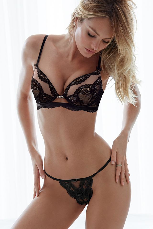 All dressed up in lots of lace & just a little sparkle. | The Victoria's Secret Designer Collection
