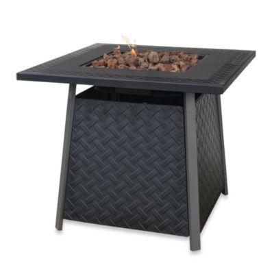 Uniflame 174 Outdoor Slate Finish Lp Firepit Table