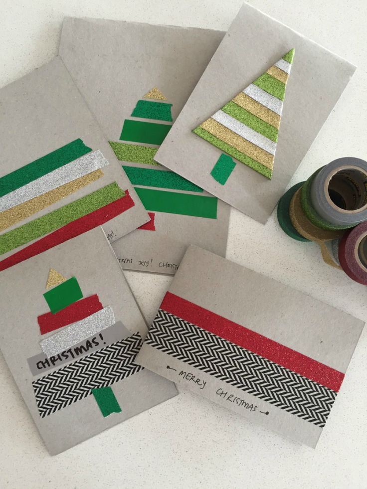 Make your own Christmas Cards with Scotch® Expressions Tape
