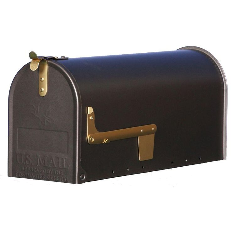 Gibraltar Mailboxes Madison Steel Post Mount Mailbox in Venetian Bronze-MM110V01 at The Home Depot $29.97