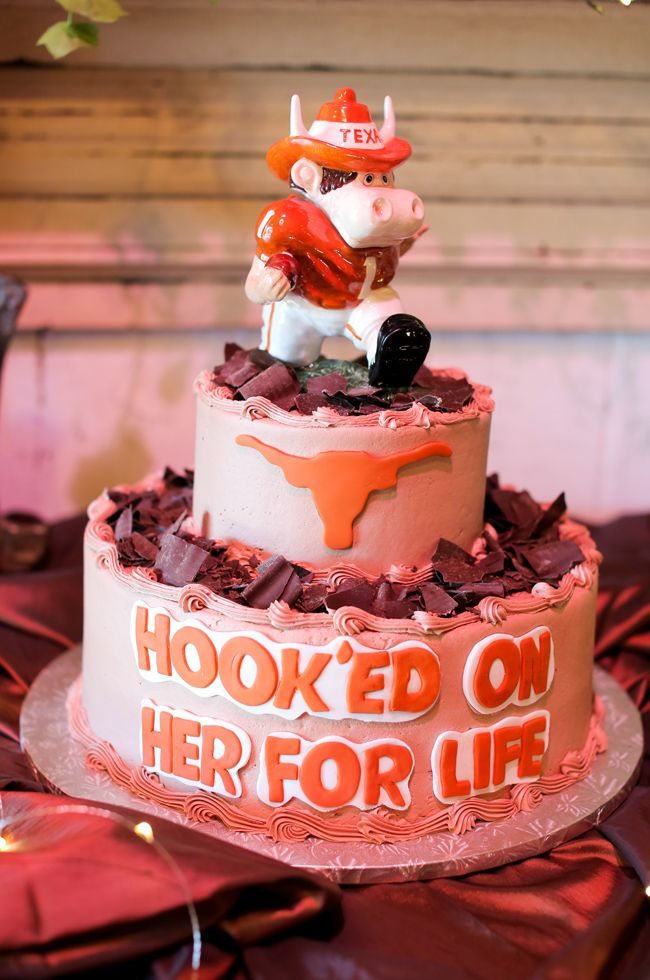 Whimsical University of Texas Longhorn Groom's Cake