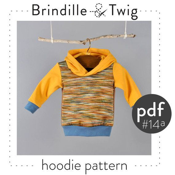 Baby Hoodie pdf pattern, photo tutorial, sizes.... 0-3, 3-6, 6-9, 9-12 months -Pattern 14a