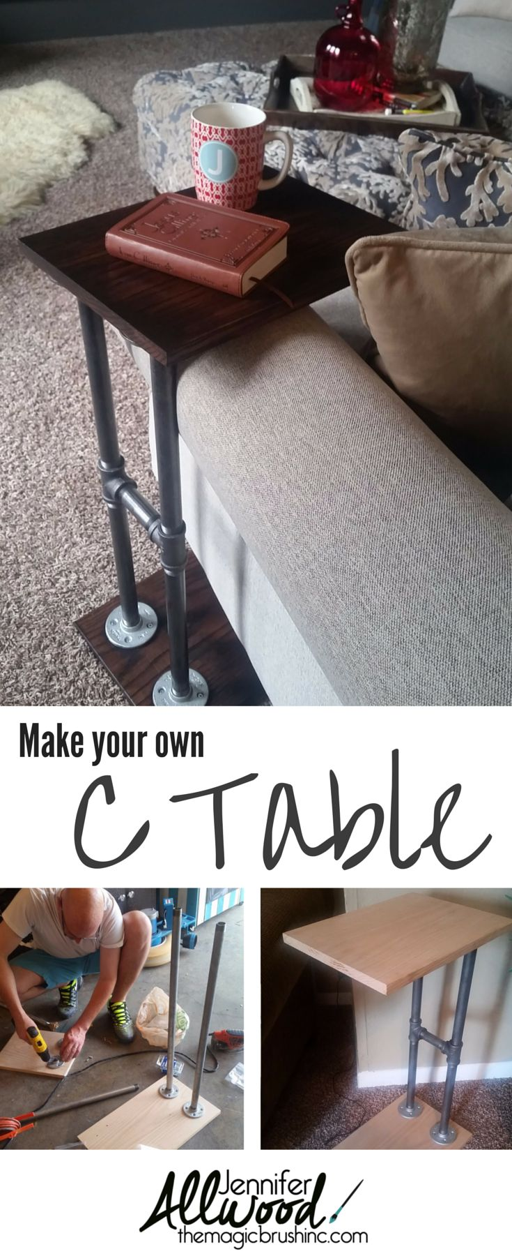 Best 25 c table ideas on pinterest industrial mugs man shed mr magic made me a c table aka an armchair table geotapseo Choice Image