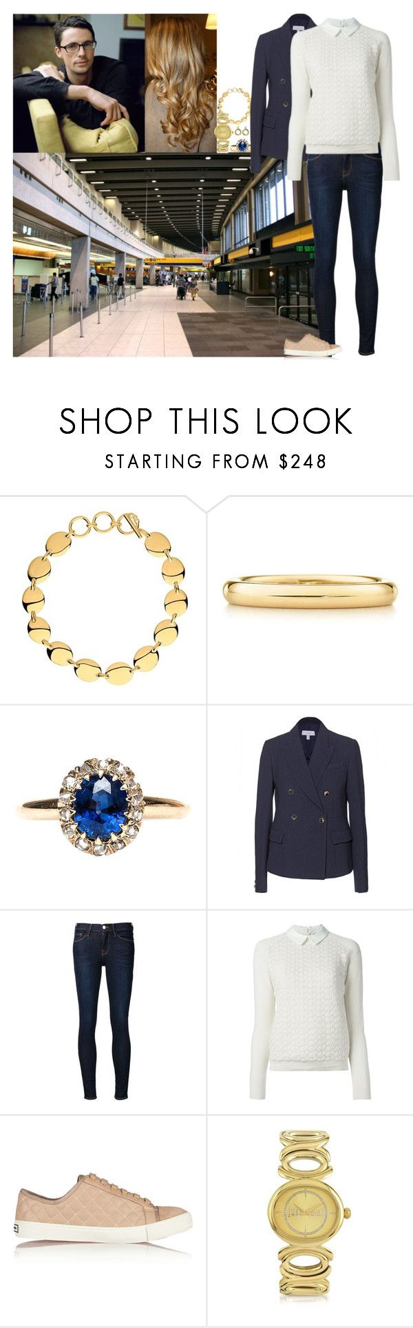 """Arriving at Calgary International Airport and beginning their day off"" by lady-maud ❤ liked on Polyvore featuring Elsa Peretti, Mulberry, Frame Denim, Tory Burch and Just Cavalli"