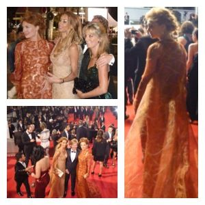 Red carpet Cannes 2014 Addy van den Krommenacker and Janna Fassaert