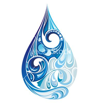 Water drop vector by galina on VectorStock®