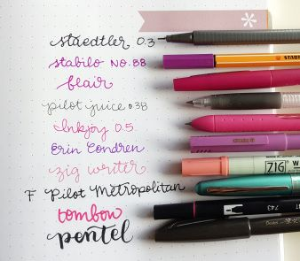 erin condren bullet journal notebook pen test