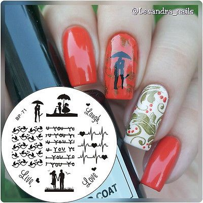 Nagel Schablone BORN PRETTY Nail Art Stamp Stamping Template Plates BP71