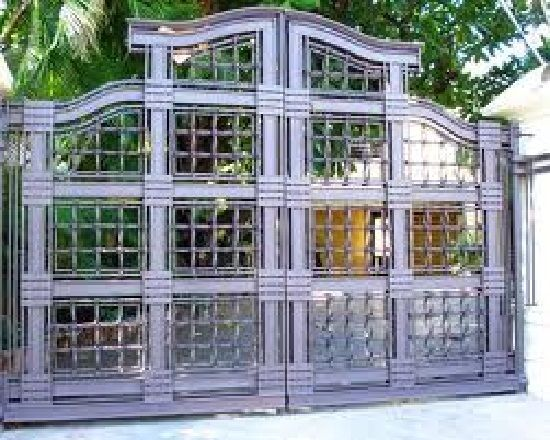 Custom designed wrought iron double gate swing style for the driveway entry  designed and fabricated for a custom home in Dominican Republic. 14 best Home Gate Design images on Pinterest   Design for home