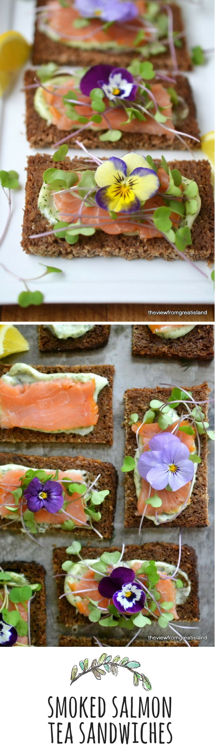 Decorate your sandwiches with edible flowers for a special occasion!