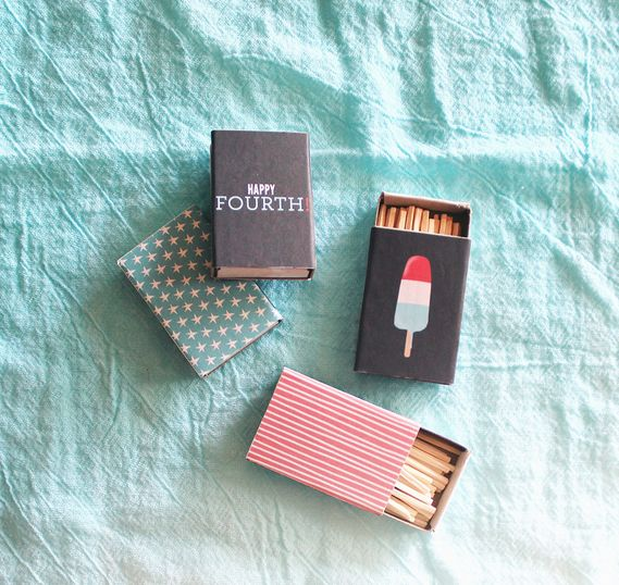 Fourth of July Printable Matchboxes and tutorial from Almost Makes Perfect, featured @printabledecor