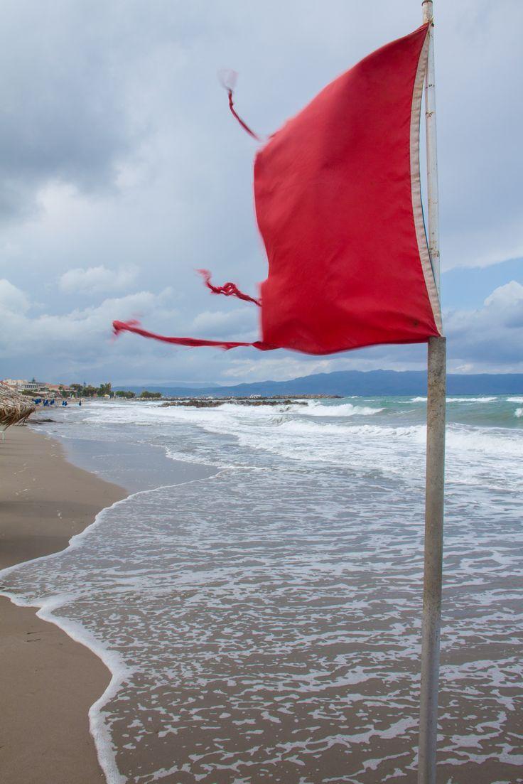 Agia Marina storm langs de kust