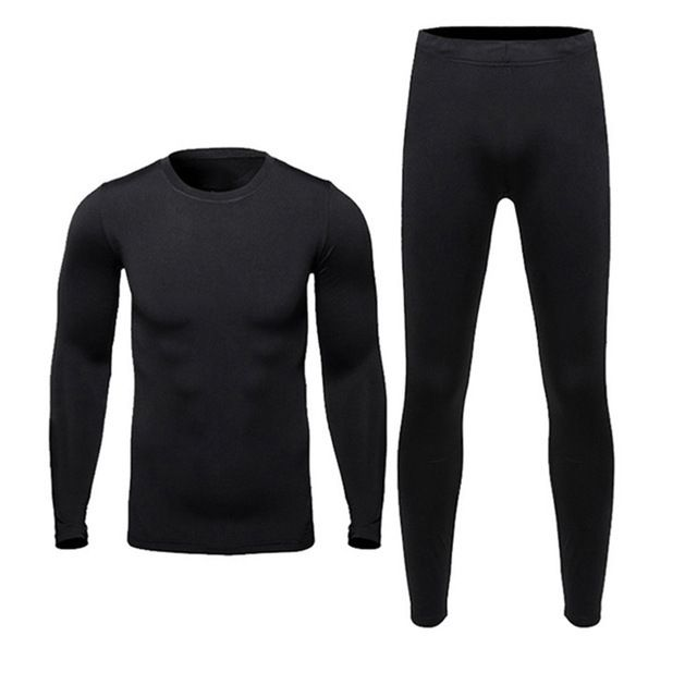Today Offer $18.80, Buy New Men Fleece Thermal Outdoor Sport Underwear Motorcycle Skiing Winter Warm Base Layers Tight Long Johns Tops & Pants Set