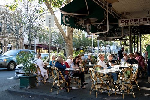 Alfresco on Melbourne's Lygon Street, where it's cafe culture was born.
