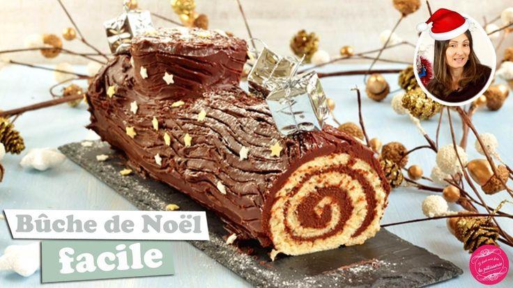 BUCHE de NOEL ROULEE au CHOCOLAT FACILE et RAPIDE ! #video