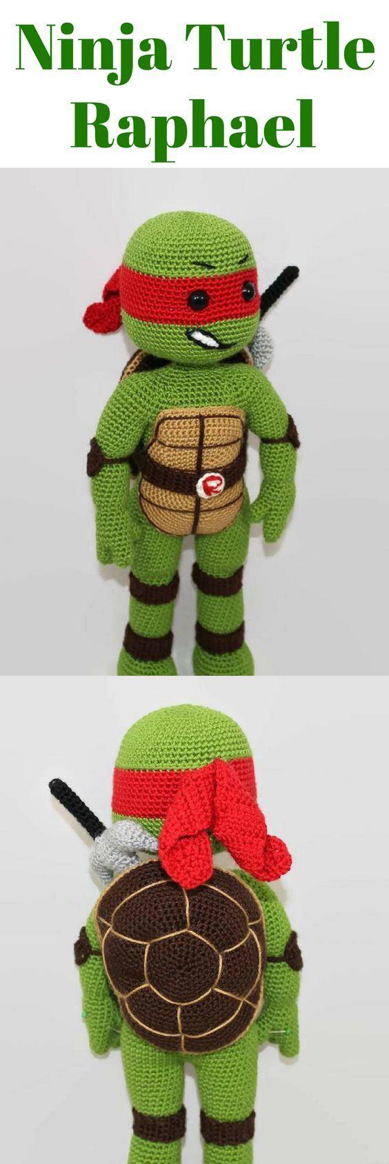 Amigurumi Ninja Turtle Raphael | Amigurumi Turtle Crochet Pattern Printable #ad #amigurumi #amigurumidoll #amigurumipattern #amigurumitoy #amigurumiaddict #crochet #crocheting #crochetpattern #pattern #patternsforcrochet #printable #instantdownload #turtle #ninjaturtle #ninja