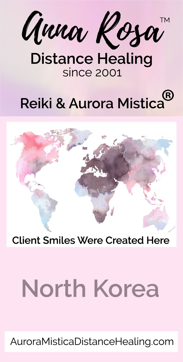 "I am Anna Rosa & I have been providing distance healing services online since 2001.  I am a Usui, Karuna (r), Shamballa & Kundalini Reiki Master. I also have my own registered modality called Aurora Mistica (R).  I truly enjoy helping put ""Smiles Around the World"" :)   #annarosa #smilesaroundtheword #reiki #distancehealing #remotedistancehealing #remotehealing #distanthealing #longdistancehealing #spiritualhealing #reikihealing #reikinearme #NorthKorea"