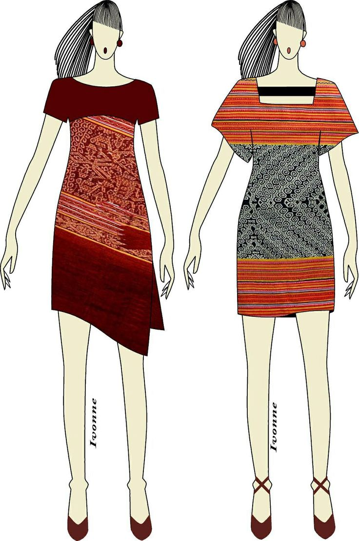 Ikat weaving dress