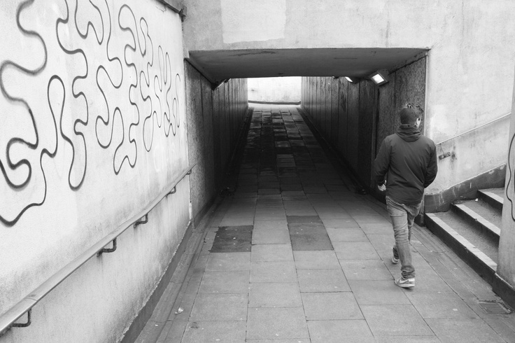 walking to the subway