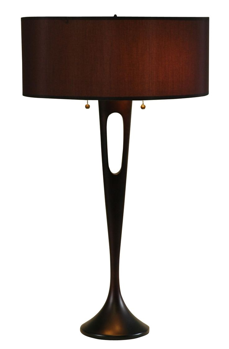 Black table lamp - Lights Up French Mod Bronze Black Table Lamp