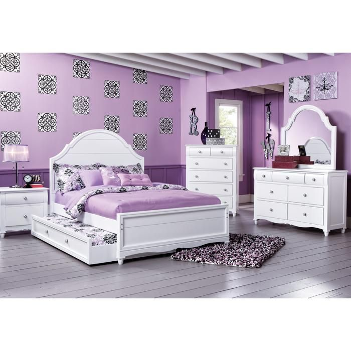 Shop For A Gabriella Winter White 5 Pc Full Panel Bedroom At Rooms To Go Kids Perfect For My 3 Grand Daughters Come With A Trundle Bed
