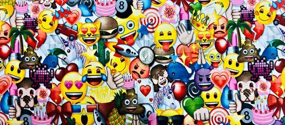 Emoji Party Emojis Everywhere Licensed By David Textiles Em 0010 6c One Yard Of Fabric By Sticker Bomb Wallpaper Sticker Bomb Water Transfer Printing Film