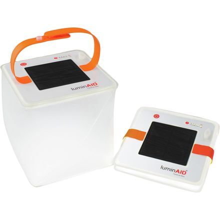 The LuminAID PackLite Max 2-in-1 Phone Charger is an ingenious solar-rechargeable lantern that delivers essential illumination and USB charging during emergency blackouts and wilderness camping adventures. This inflatable cube houses a 150-lumen LED light and built-in solar panel with USB charging station.