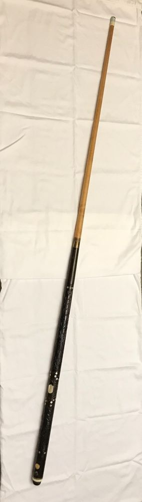 Vintage Sampaio Pool Cue Pool Stick MOP and Carved Wood Handle