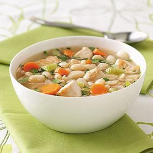 White Bean Soup Leave out Lima beans and Add baby spinach, yum!
