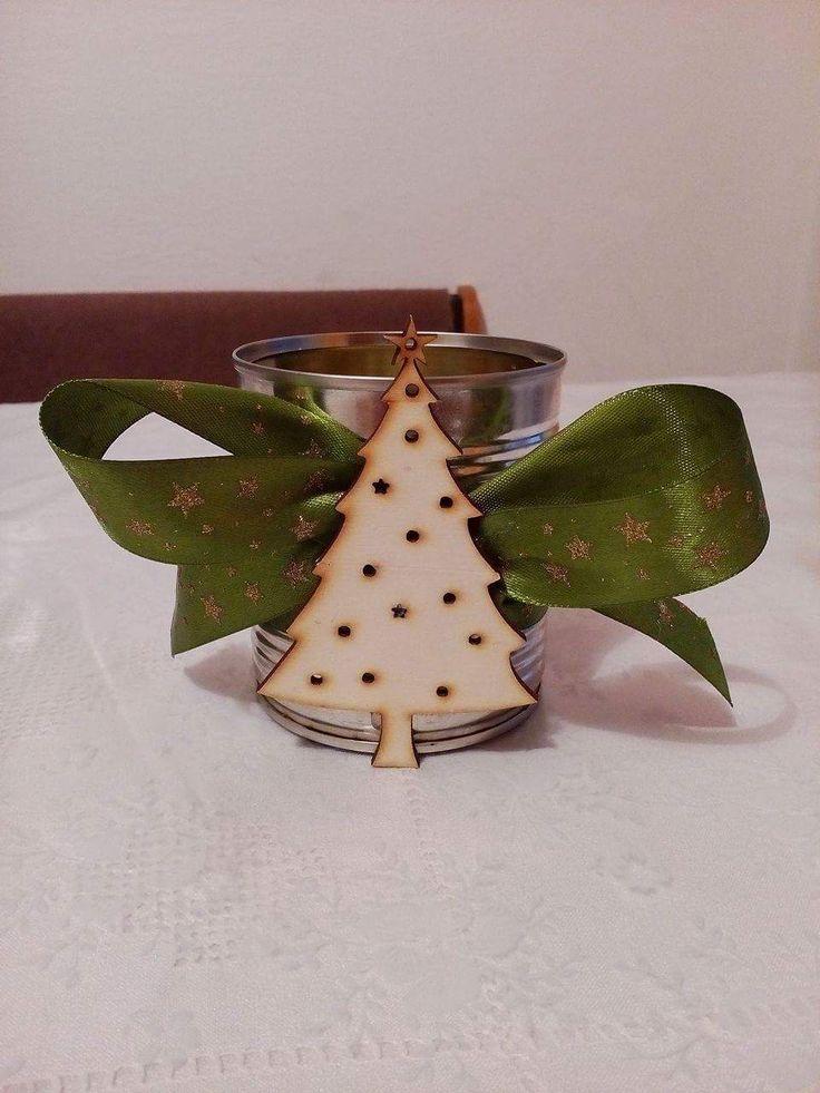 Svícínek z plechovky :) stromeček