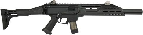 CZ Scorpion Carbine (9mm) - Suppressable Sidearm Enhancer.  The Just Right Carbine and new KRISS Vector 9mm are other good options.