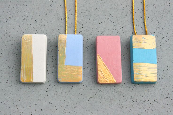 #concrete #holographic #pendant #colorful #gold #geometric