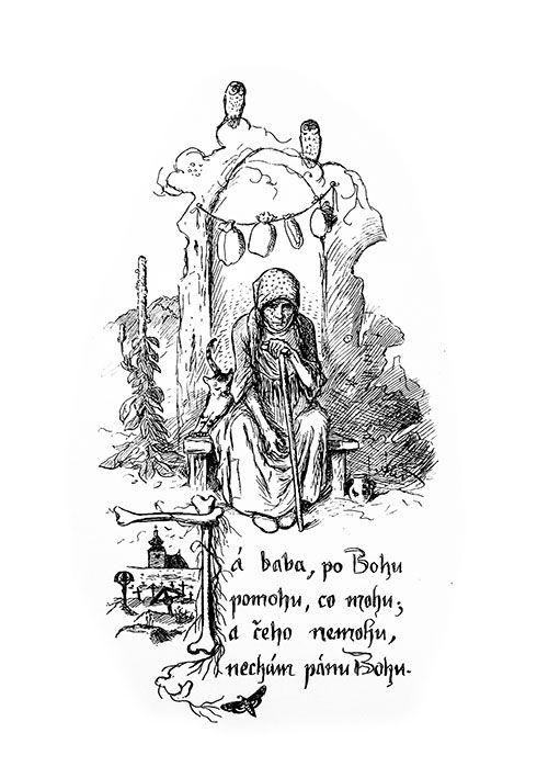 Mikoláš Aleš: Já bába po Bohu 2 http://www.herbia.cz/products-page/pohlednice/umelecke/page/8/
