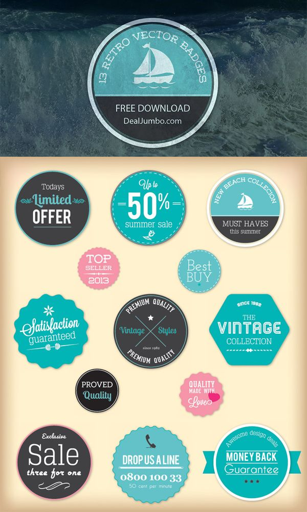 Free Badges #PSDs & #Vector Sets For Your Future Projects - #psd