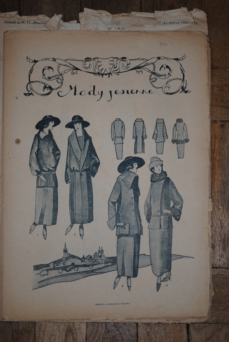 Bluszcz was the famous Polish fashion magazine, edited in Warsaw in 1865–1918, 1921–1939. In my collection I have some addition about craft nad fashion