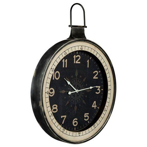 Zocha Distressed Black Clock