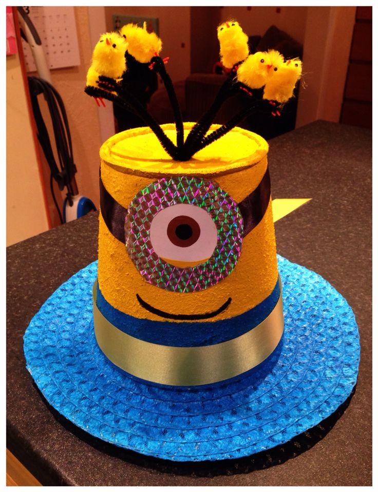 Minion / Despicable Me Easter Bonnet for the St Joseph's Infants (Reception) Easter Bonnet Parade 2015.
