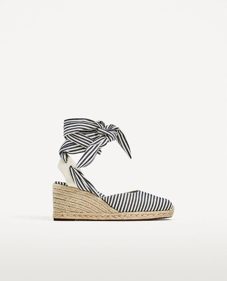 STRIPED TIED WEDGES
