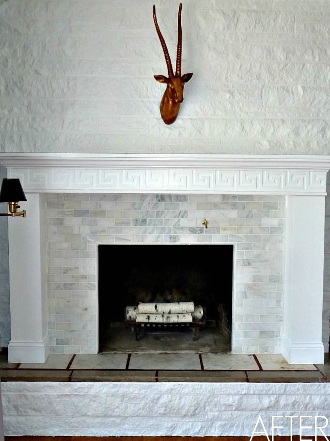 How to tile a fireplace - Tiling a brick fireplace ...