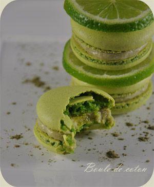 Macarons citron vert & thé matcha 2