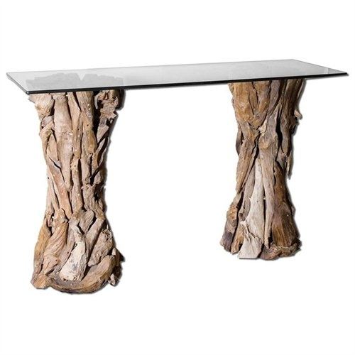 Driftwood Teak Table: 27 Best Images About Stone Console Table On Pinterest