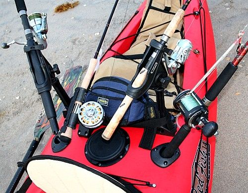 Kayak rigging for bluewater fishing florida sportsman for Rigged fishing backpack