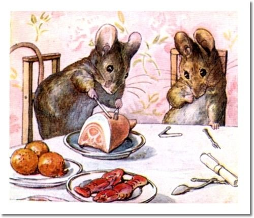 The Tale of Two Bad Mice - 1904 - Tom Thumb Unable to Cut Ham