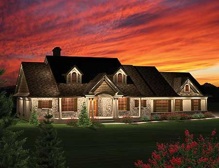 Plan 89821ah 3 bedroom rambling ranch 3 car garage house plans and craftsman - Brick houses three beautiful economical projects ...